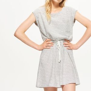 Forever 21 Striped Jersey Cinched Waist Mini Dress